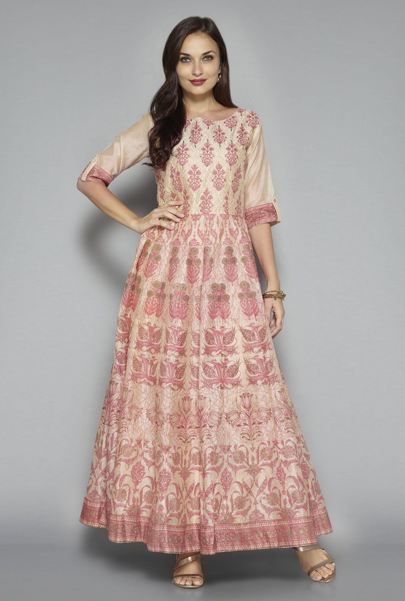 ab130f0e7 Vark by Westside Beige Maxi Dress | utsa | Beige maxi dresses ...