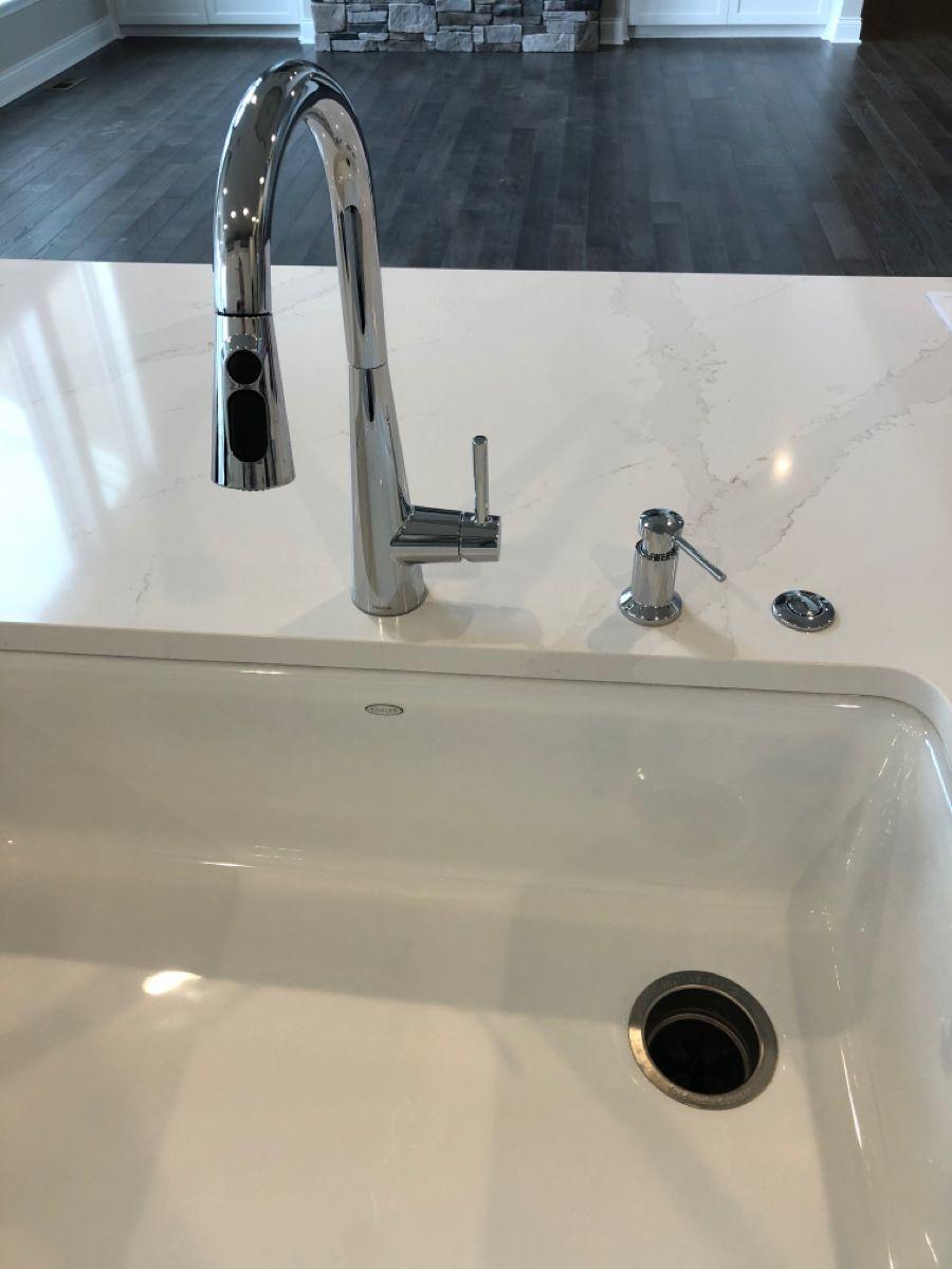 Sleek Chrome W Soap Dispenser 8 O C And Garbage Disposal Air Switch 12 O C Bar Faucets Faucet Garbage Disposal [ 1200 x 900 Pixel ]