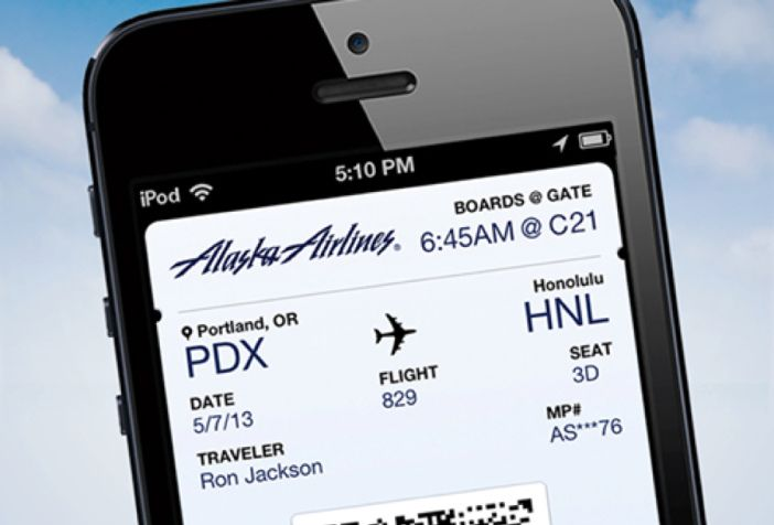 how to put boarding pass on iphone