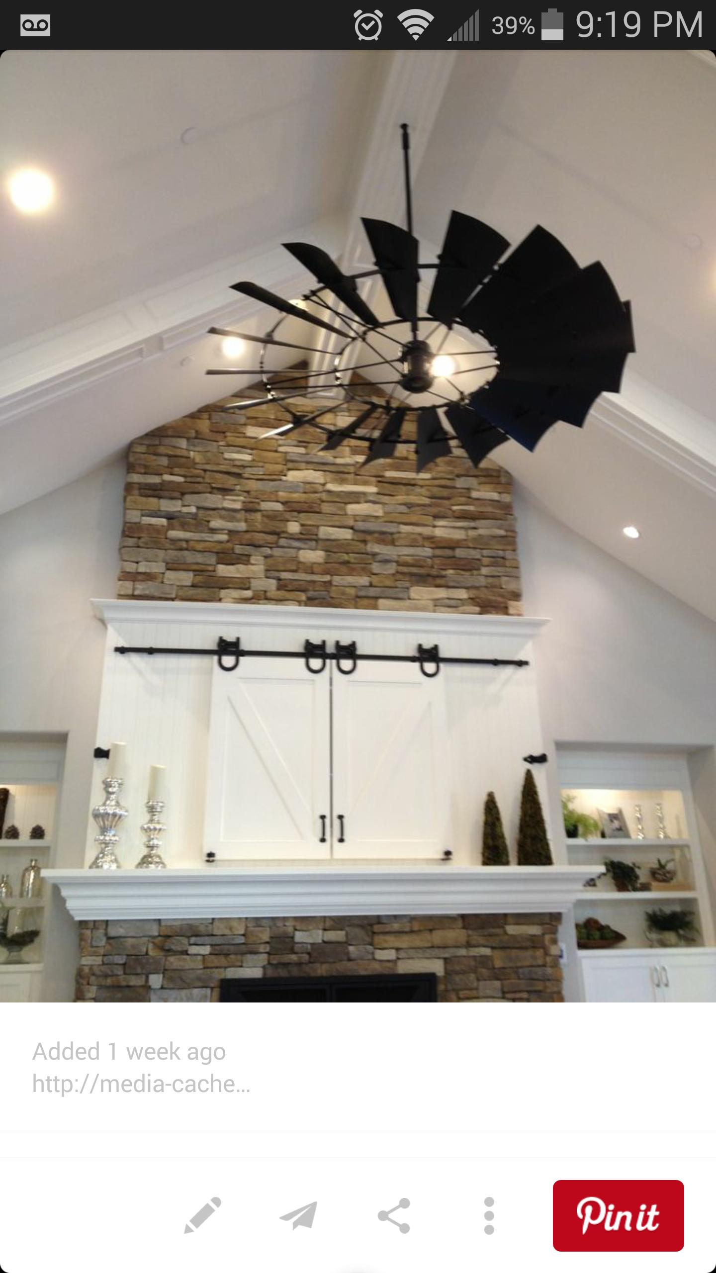 Windmill Ceiling Fan New Home Ideas Pinterest