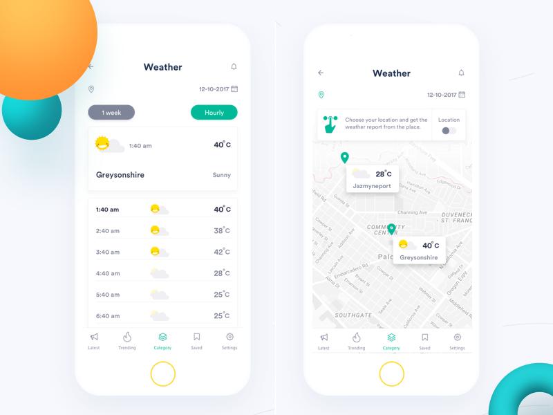 Clean weather alert app Weather alerts, App, App design