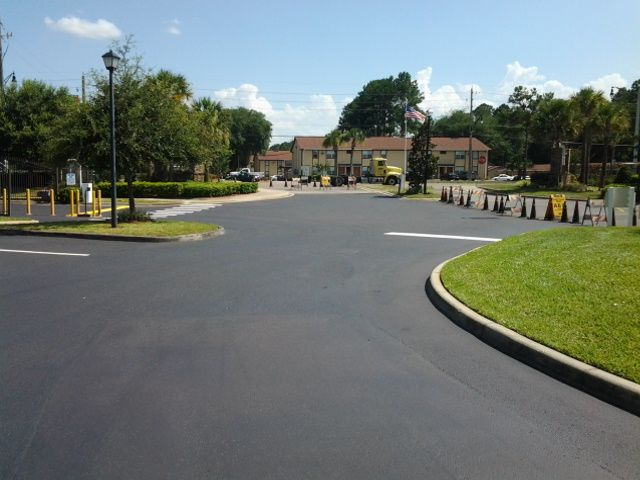 #Sealcoating and #LineStriping Job by the ABC Paving and Sealcoating Team! #ParkingLot #Maintenance #Asphalt
