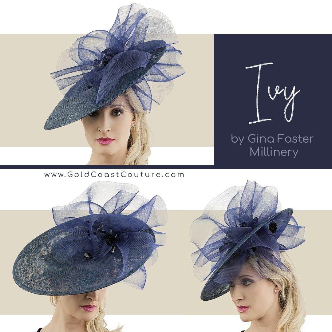 Ivy Navy Fancy Hats Kentucky Derby Hat Kentucky Derby