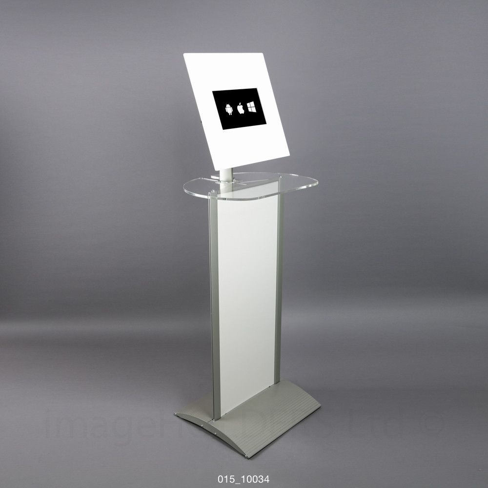 Exhibition Stand Kiosk : Free standing tablet kiosk display stand with poser table