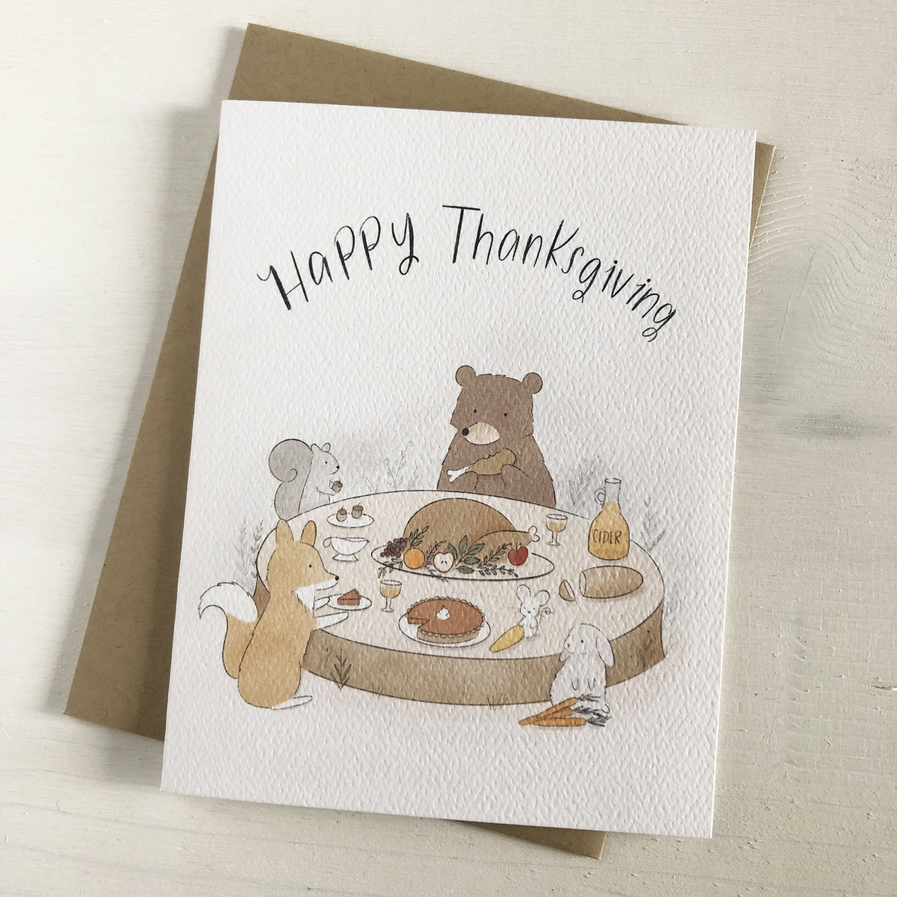 Happy Thanksgiving Fall Stationery Thanksgiving Cards Etsy In 2020 Thanksgiving Greeting Cards Greeting Card Set Thanksgiving Cards