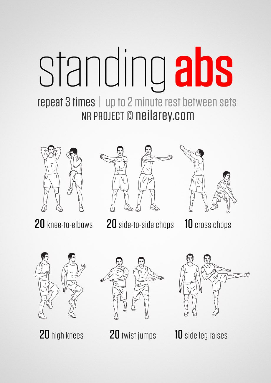 Top Standing Ab Exercises And Workouts To Burn Belly Fat Abmachinesguide Workout Routines Abs