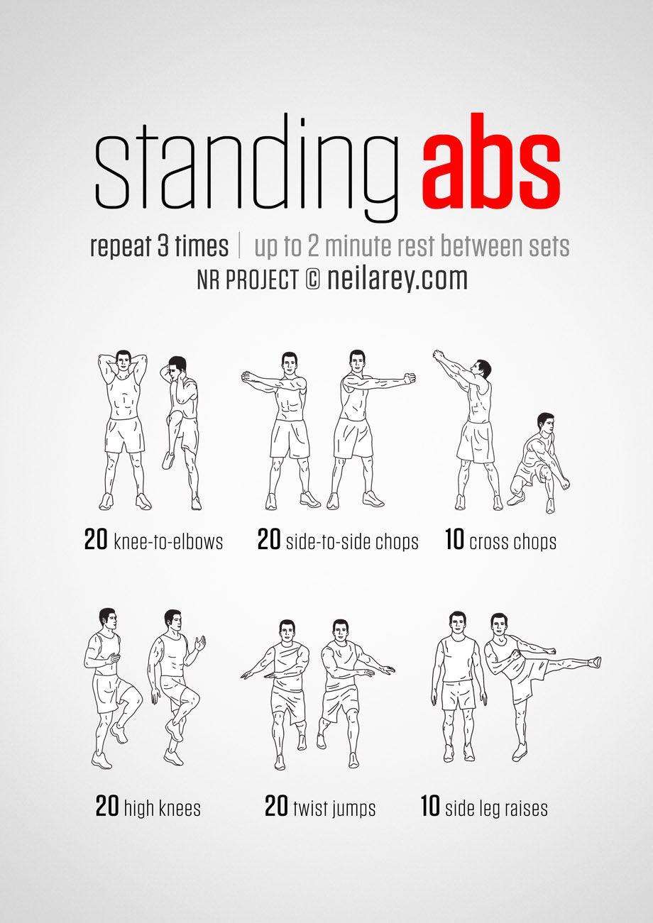 standing abs machine