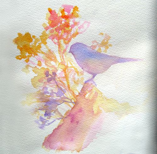 Treating Acrylic Like Watercolor   Flickr - Photo Sharing!