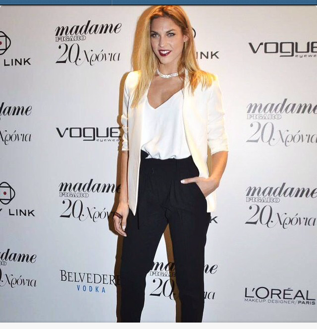 Mado Gasteratou, in her chic outfit at Madame Figaro Anniversary Celebration event! #BSB_FW14 #BSB_collection #BSB_outfit