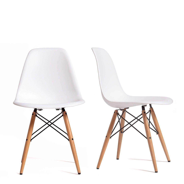 Chaises Design Dsw Blanc 4u Set De Chaises Amazon Fr Cuisine Maison Chaise Design Chaise Moderne Mobilier Design
