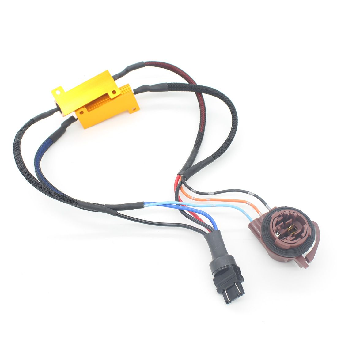 hight resolution of car led t25 3157 brake lights singal load resistor led bulb fast hyper flash turn signal wiring canceller decoder w124 w204