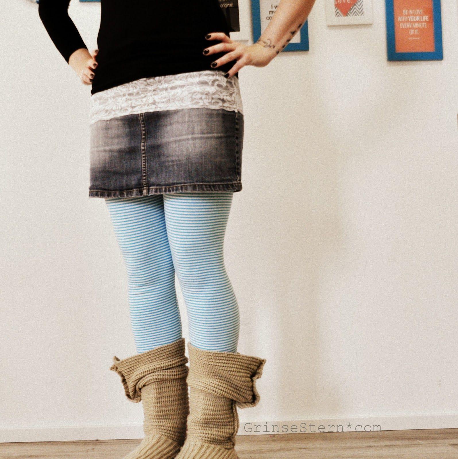 ich liebe ja röcke, hab mir ja auch schon den ein oder  anderen  genäht ... *lol*   und da trag ich dann meistens leggings drunter ...   ei...