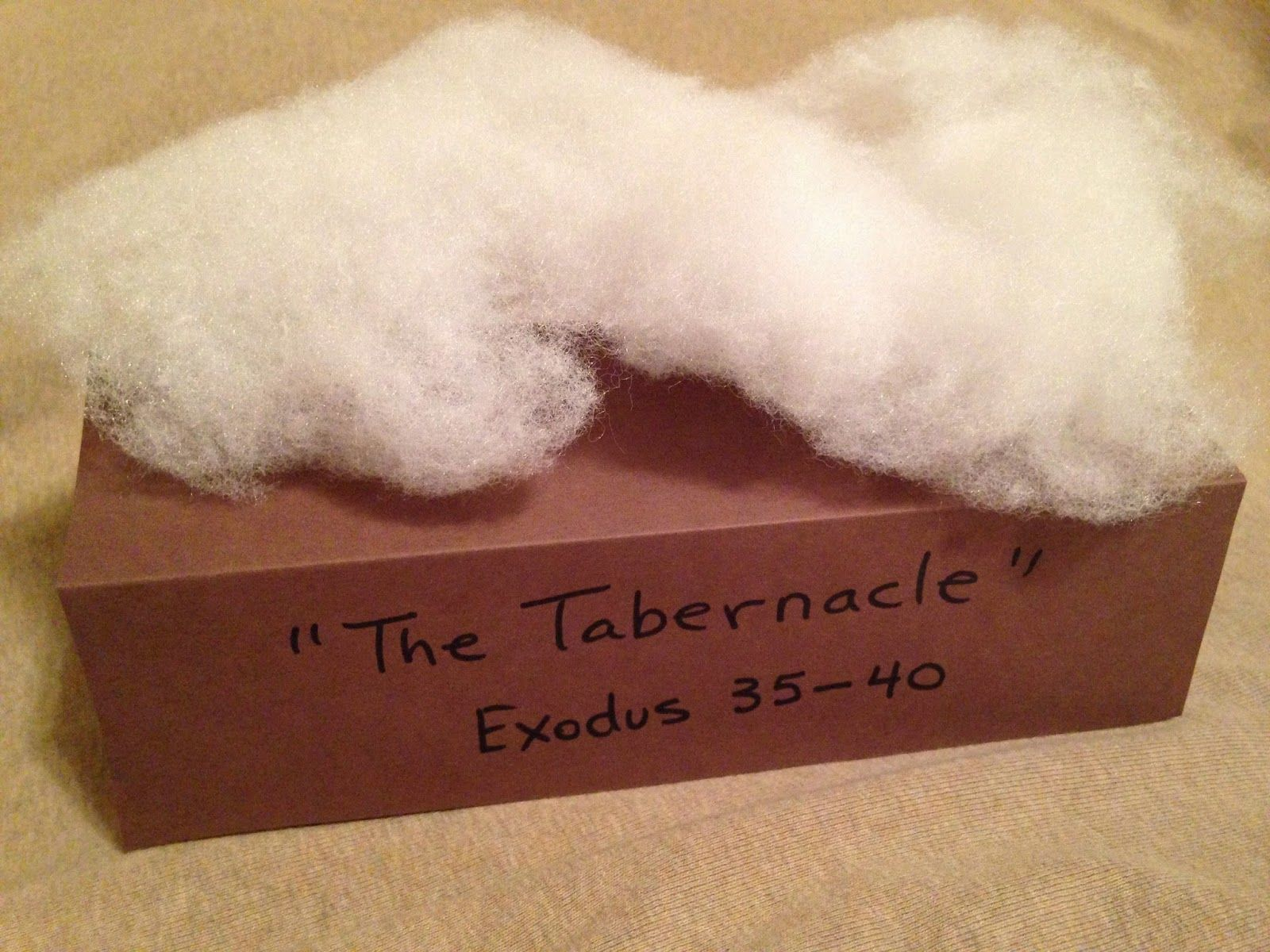 Tabernacle Cloud Exodus Easy Bible Activity