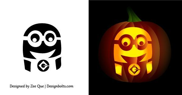 Free Simple & Easy Pumpkin Carving Stencils / Patterns for Kids ...