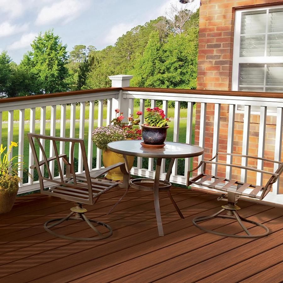 Freedom Assembled 8 Ft X 3 5 Ft Prescot White Pvc Deck Rail Kit With Balusters Lowes Com In 2020 Deck Railings Staining Deck Deck Colors