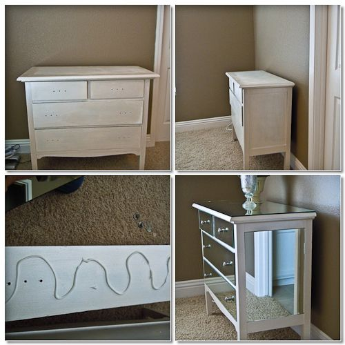 diy mirrored dresser so much cheaper than a store bought mirror dresser - Mirrored Dresser Cheap