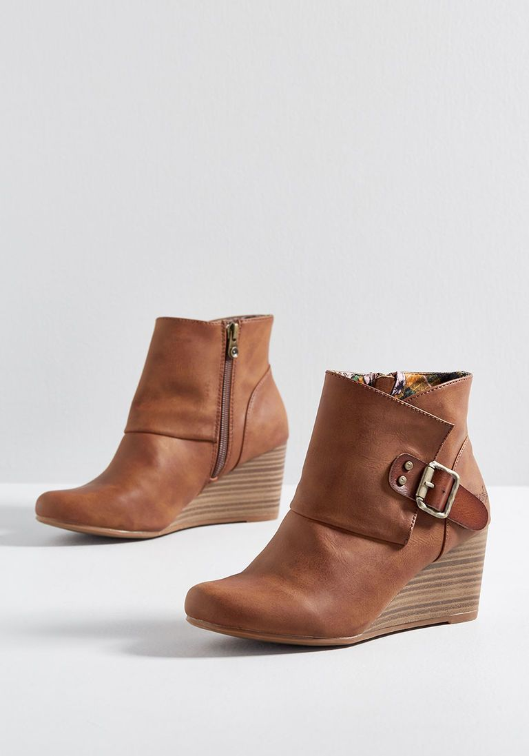 ba0607db4de3 Buckle or Nothing Wedge Bootie in 7.5 by Blowfish from ModCloth