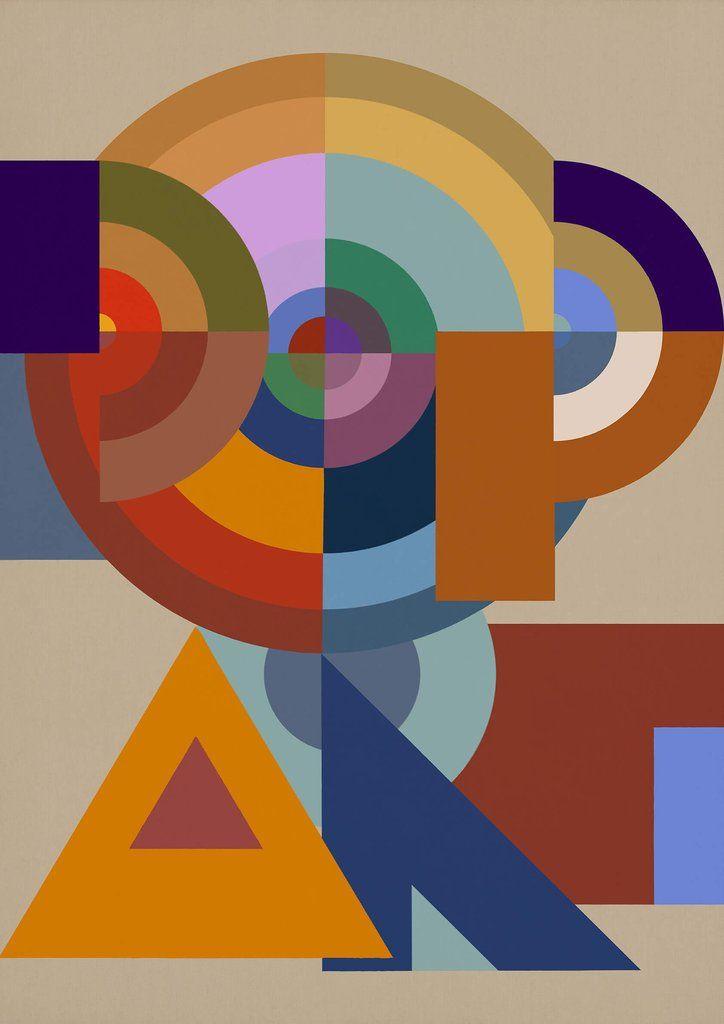 Bauhaus Pop Art - Abstract Graphic Art, 2016  Limited Editions