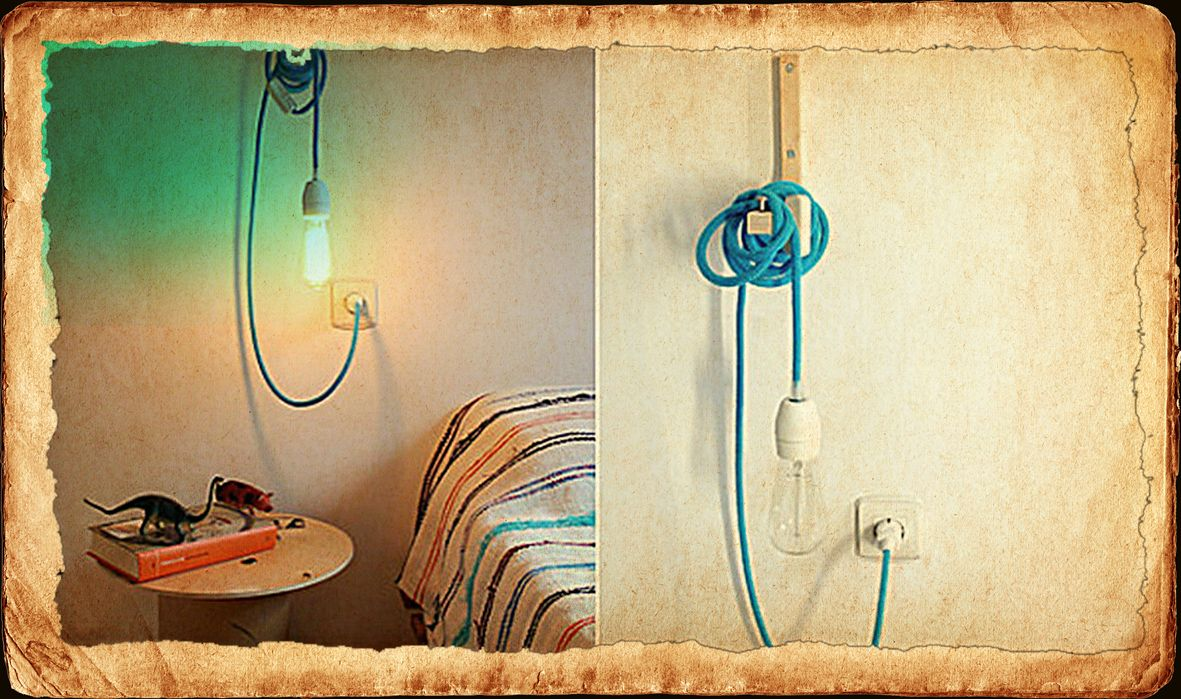 #Fabric cable as a reading light in bed http://www.accende.ch/