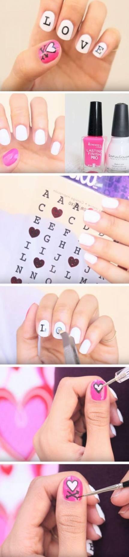 day nails short pink