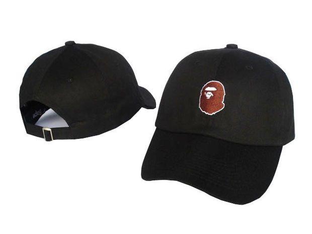 44cfa598 A BATHING APE Fashion Baseball Cap BAPE Men's Snapback Embroidered Hip-Hop  Adjustable Hat New Women's Sports Casquette Snap Back Black Cap
