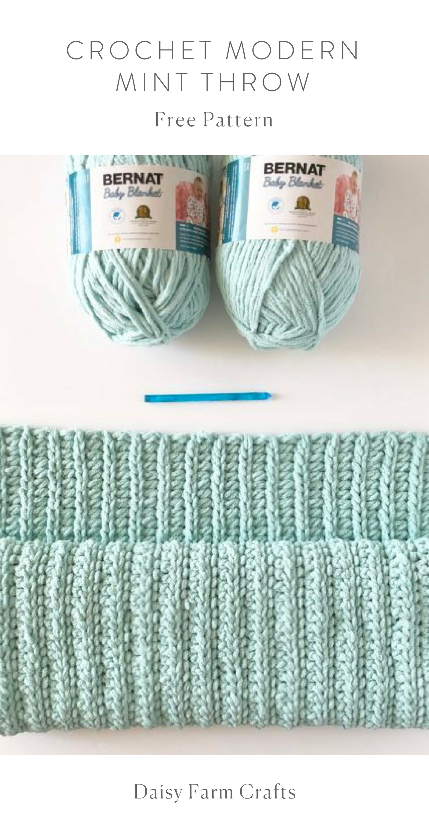 Free Pattern - Crochet Modern Mint Throw | Afghan Crochet ...