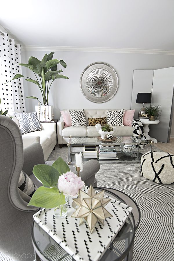Summer Home Tour Cuckoo4design Beige Living Rooms Summer Living Room Pink Living Room #pink #grey #and #white #living #room #ideas
