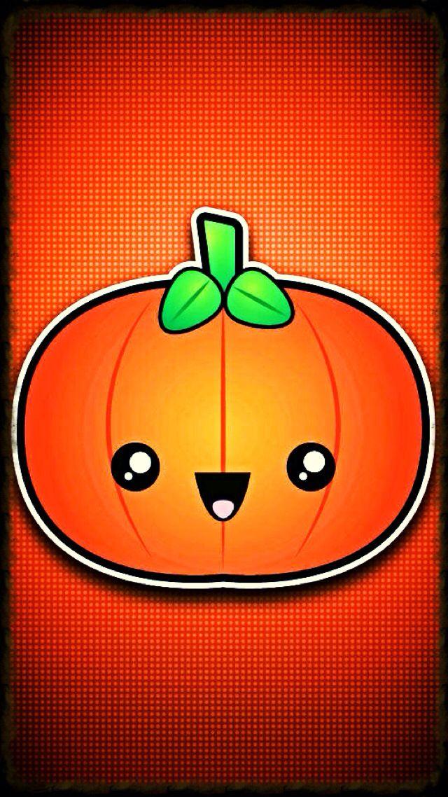 Cute chibi pumpkin (With images) Halloween wallpaper