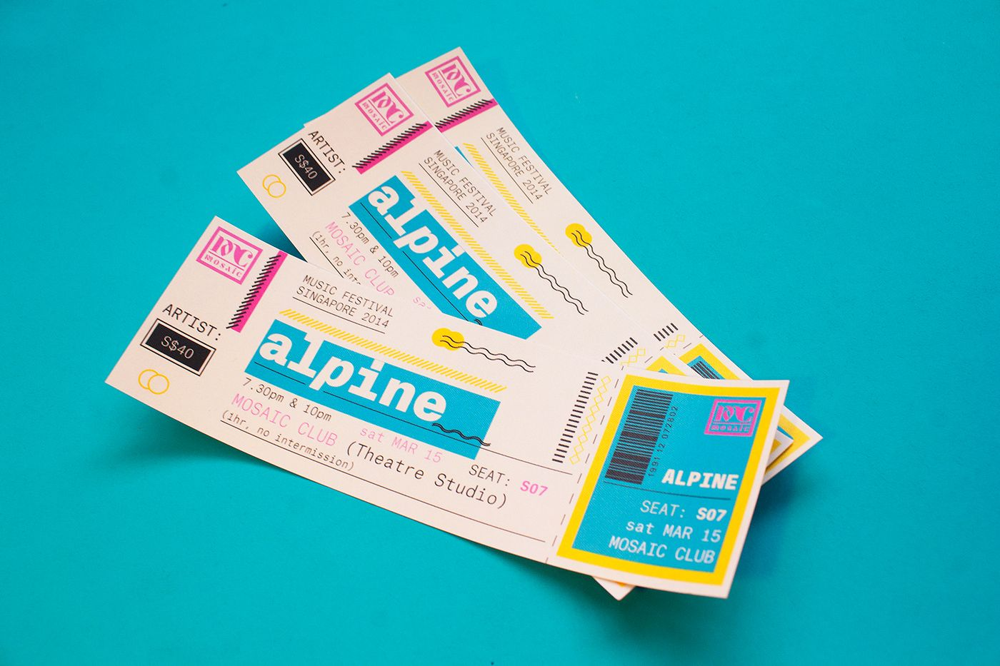 MOSAIC Music Festival 2014   Ticket on Behance