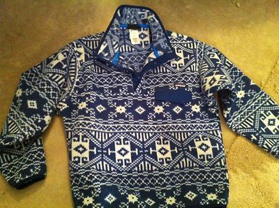 Patagonia Aztec Pattern Synchilla Fleece Pullover size M | eBay