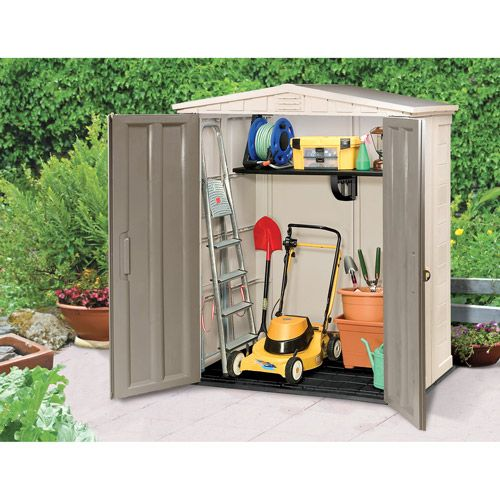 Keter 6x3 apex storage shed at for for Garden shed 6x3