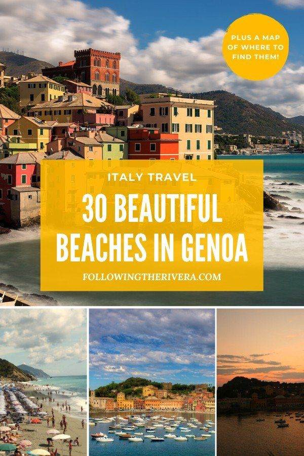Indulge your inner #beachlover with these 30 hot #beach spots along the Italian Riviera in #genoa #italy Let the beach come to you, and plan a #trip for the future. #travel #genoatravel #italianriviera #italytravel #travelItaly #northitaly #traveltips #traveldestinations #travelideas #smalltownitaly #travelersnotebook #traveladvice #traveladviceandtips #traveltipsforeveryone #traveladdict #travelawesome #travelholic #europetravel #europetraveltips