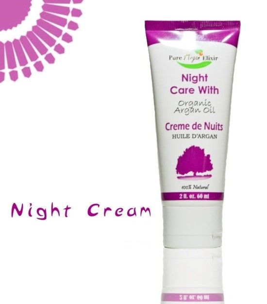 Moisturising Night Care Argan Cream   60ml £7.50  This light cream is rich in Argan Oil, Vitamin E to allow skin to remain supple and soft effectively reducing the effect of ageing on the epidermis.