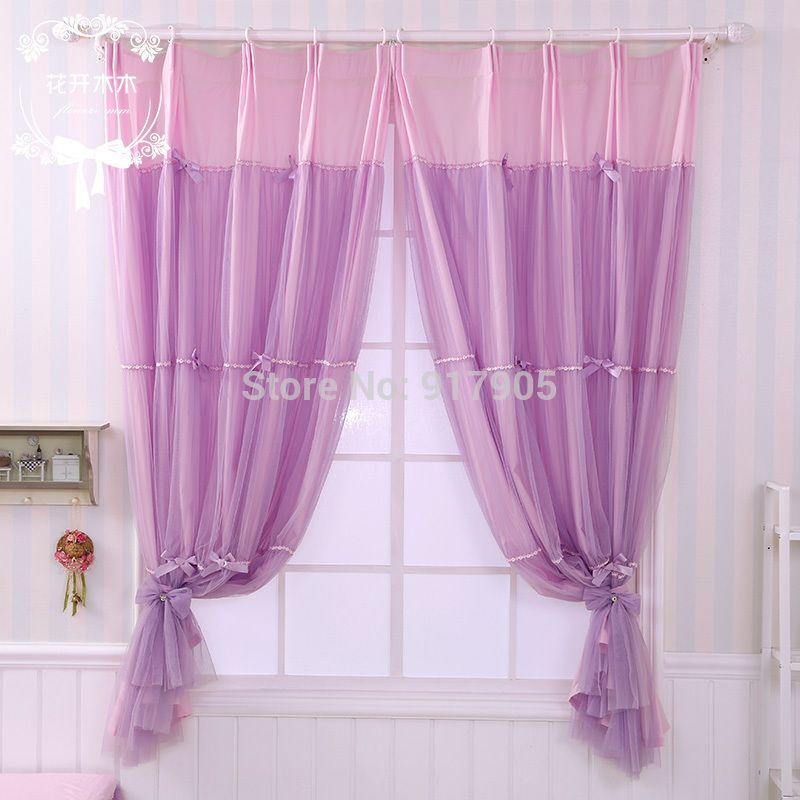 Lilac Blackout Curtains | elegante viola tende camera da letto ...