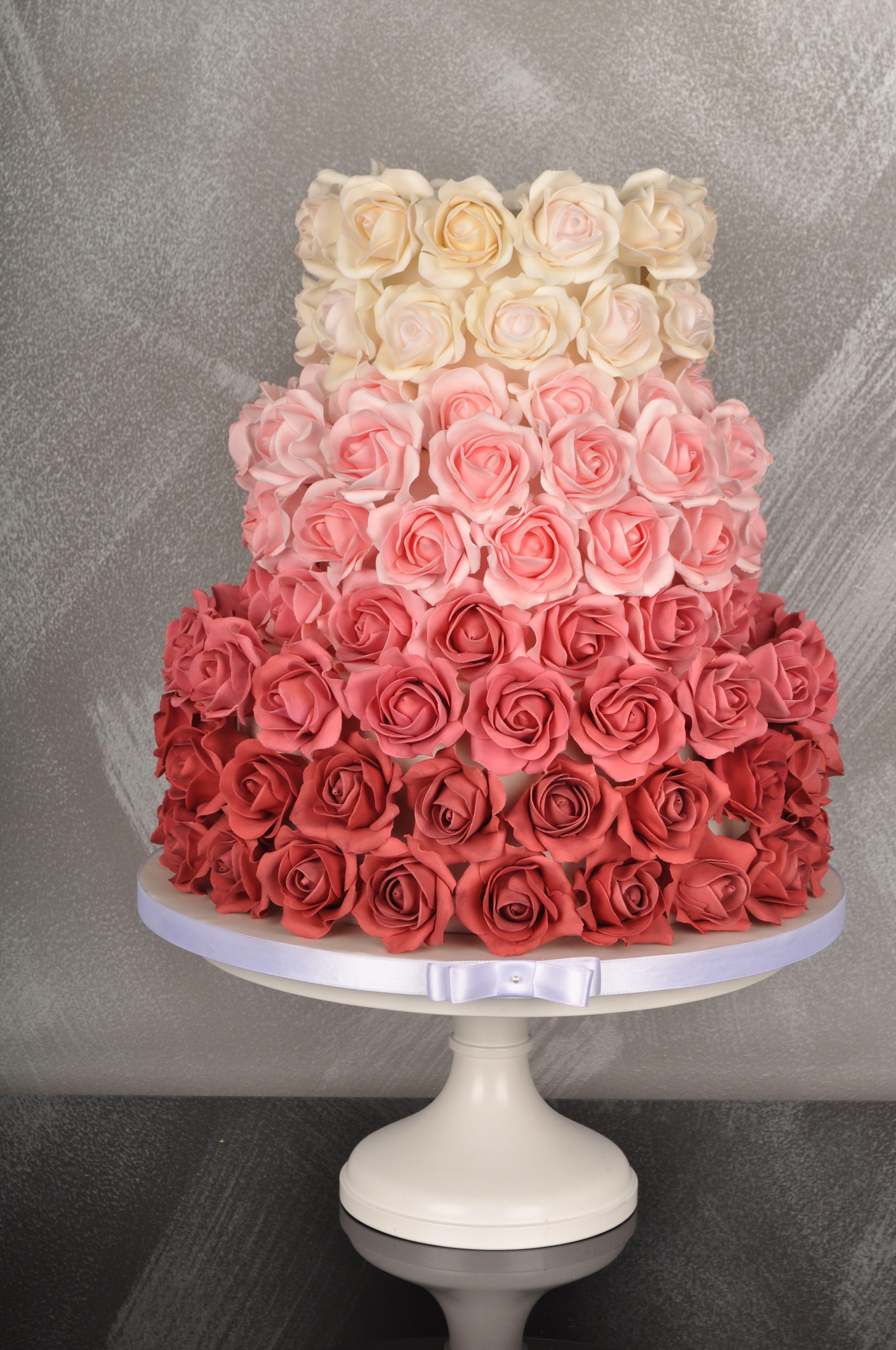 Sugar Ombre Rose Wedding Cake Inspired Wedding Cake Pinterest