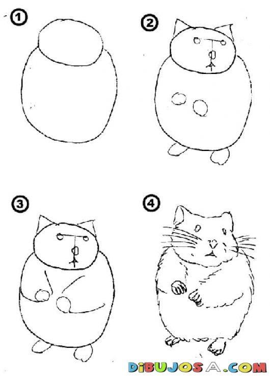 Como Aprender A Dibujar Un Hamster En Solo 4 Pasos Para Pintar Y ...