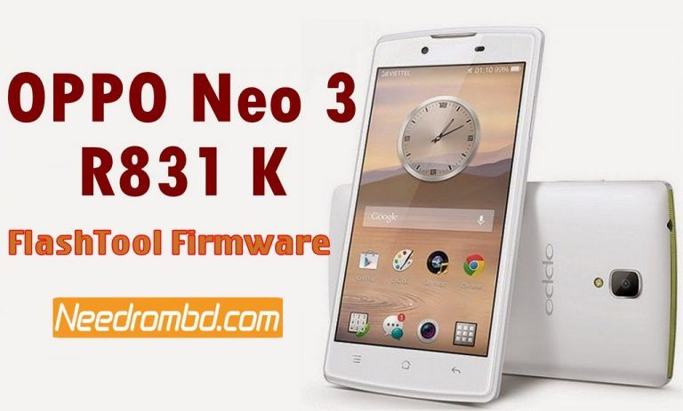 Oppo Neo 3 R831K -SP Flash Tool Firmware | Download