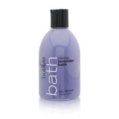 Spa Sister Lavender Bubble Bath-8.8 oz. by Spa Sister. $7.99. Bubbles That'll Lift Up Your MoodTurn your bathing routine into a calming and soothing ritual with this lavender scented bath potion. Enriched with rejuvenating and skin revitalizing essential oil and sea salt. A few ounces in your warmed bath will create delightful bubble that will leave your skin feeling smooth, soft, and refreshed.Enriched with essential oil, glycerin and sea saltLong-lasting and skin soften...