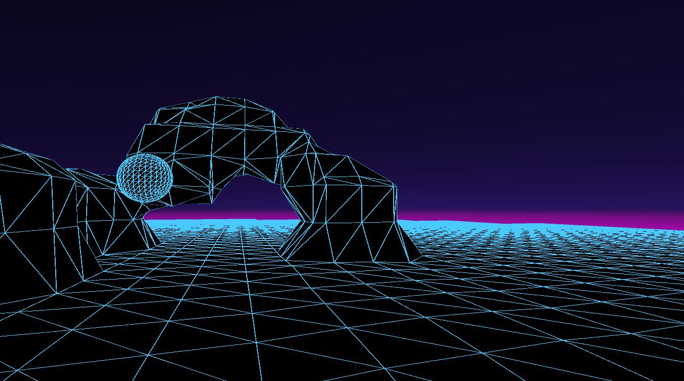 Vaporwave Aesthetic Terrain Unity3D Vaporwave