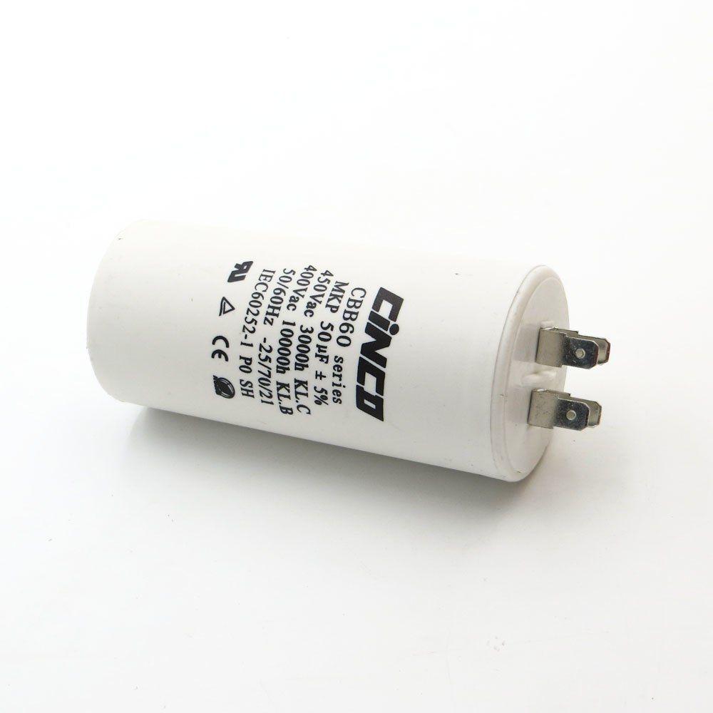 50 Uf 400 450v Cbb60 Motor Run Capacitors 4pins Sh Db Polypropylene Film Ac Water Pump Electrical Engine Mf Mfd Mkf Vac Volt