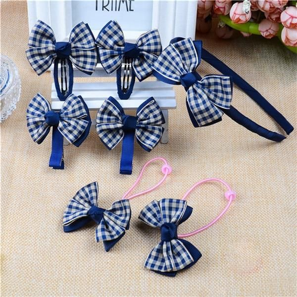 7pcs/set Fashion Girl Hair Accessories Dot Bow Hairpins Elastic Hair Bands Headbands Hair Clips For Girls Kids Hairbands #hairbands 7pcs/set Fashion Girl Hair Accessories Dot Bow Hairpins Elastic Hair Bands Headbands Hair Clips For Girls Kids Hairbands #hairbands