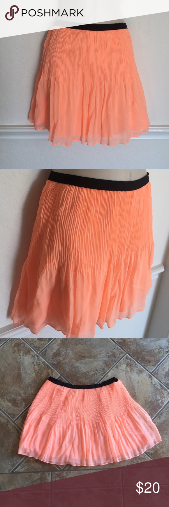 Victoria's Secret Neon Orange Twirl Skirt Victoria's Secret Neon Orange Twirl Skirt size 6 Victoria's Secret Skirts Mini