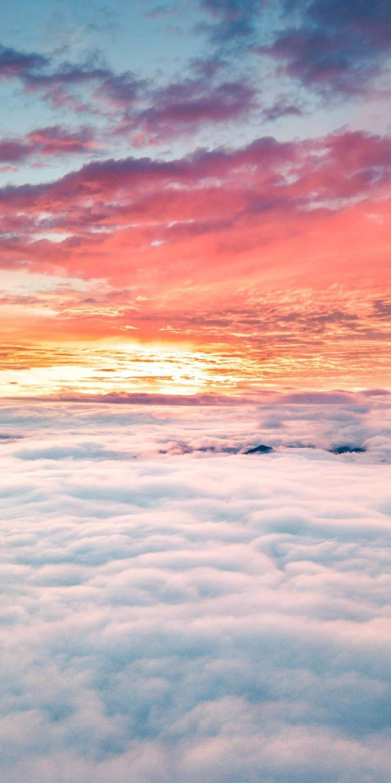 Cloudy Sunset Walllpaper Wallpaper Iphone Android Background Followme Sunset Wallpaper Beautiful Wallpapers Sky Aesthetic