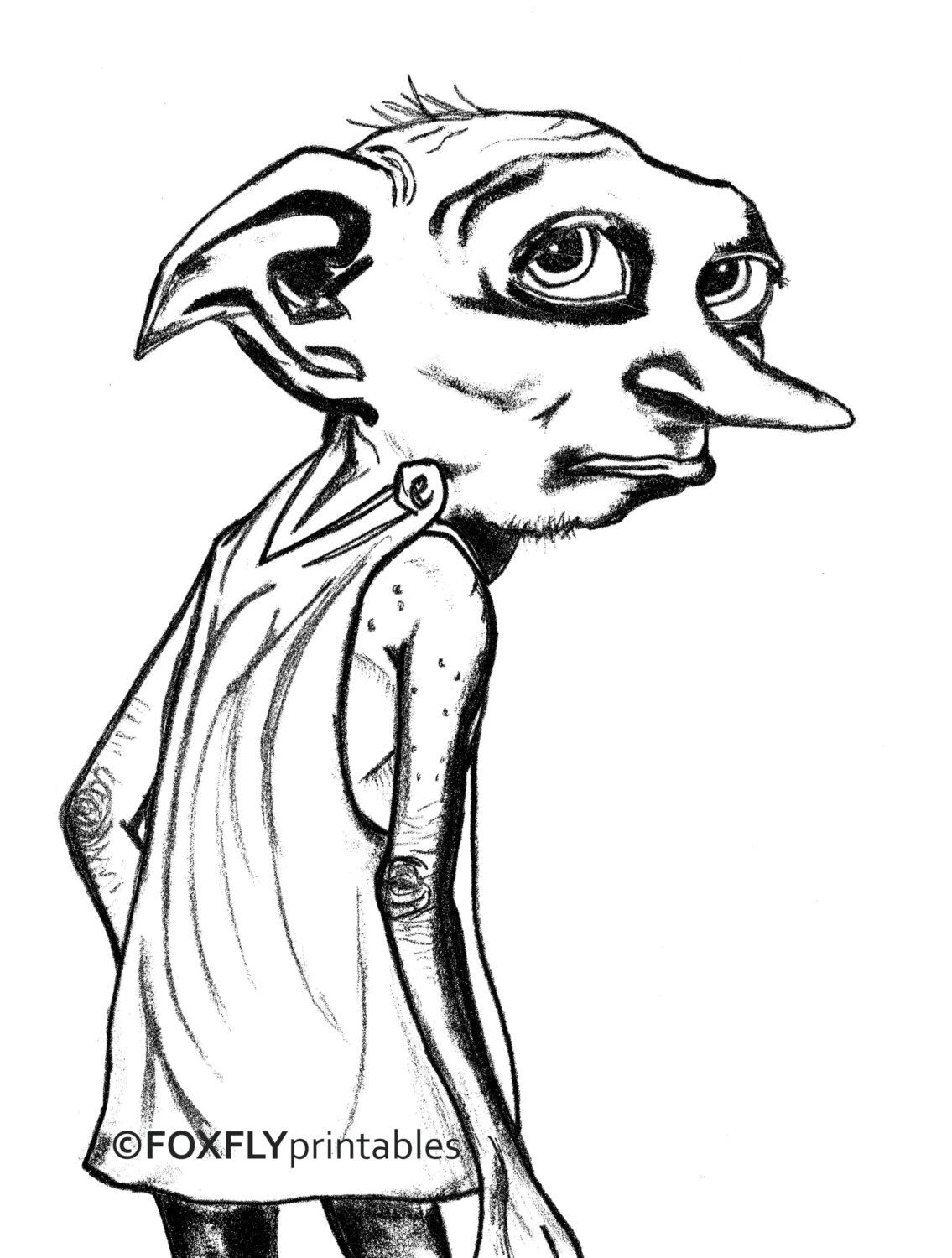 Dobby Art, Harry Potter Art, Dobby Art Print, HP Art ...