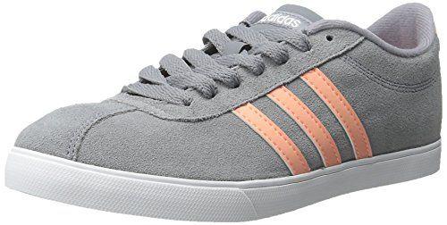 Adidas neo Donna courtset w scarpa, grey / / sole bagliore giallo / grey bianco, 7 m fc2a31