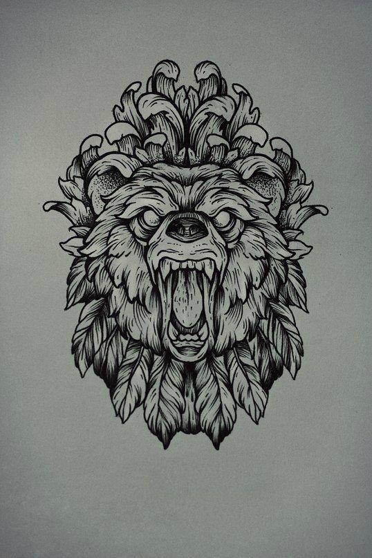 Traditional Bear Tatto...