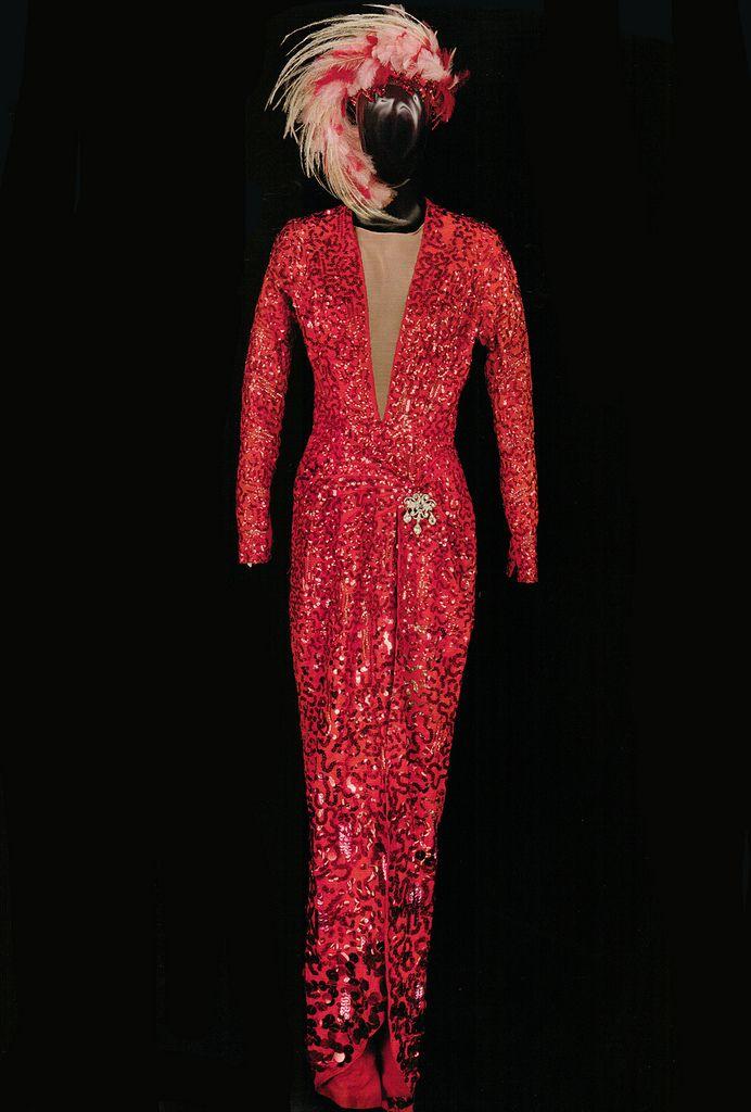 Gentlemen prefer blondes red dress costume