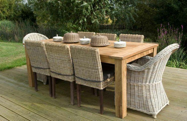 Salon de jardin en teck- tout type de meubles en 20+ photos ...