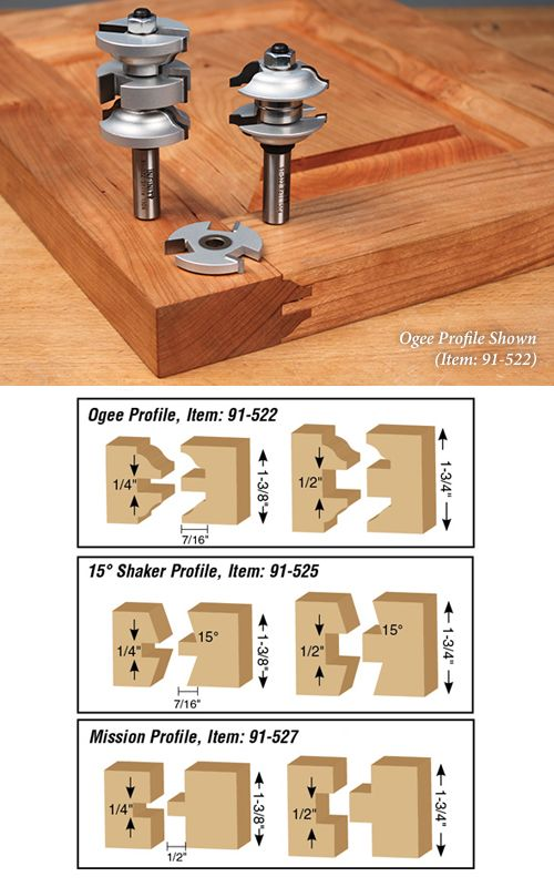 Rail Stile For Entry Passage Doors Pinterest Router Bits