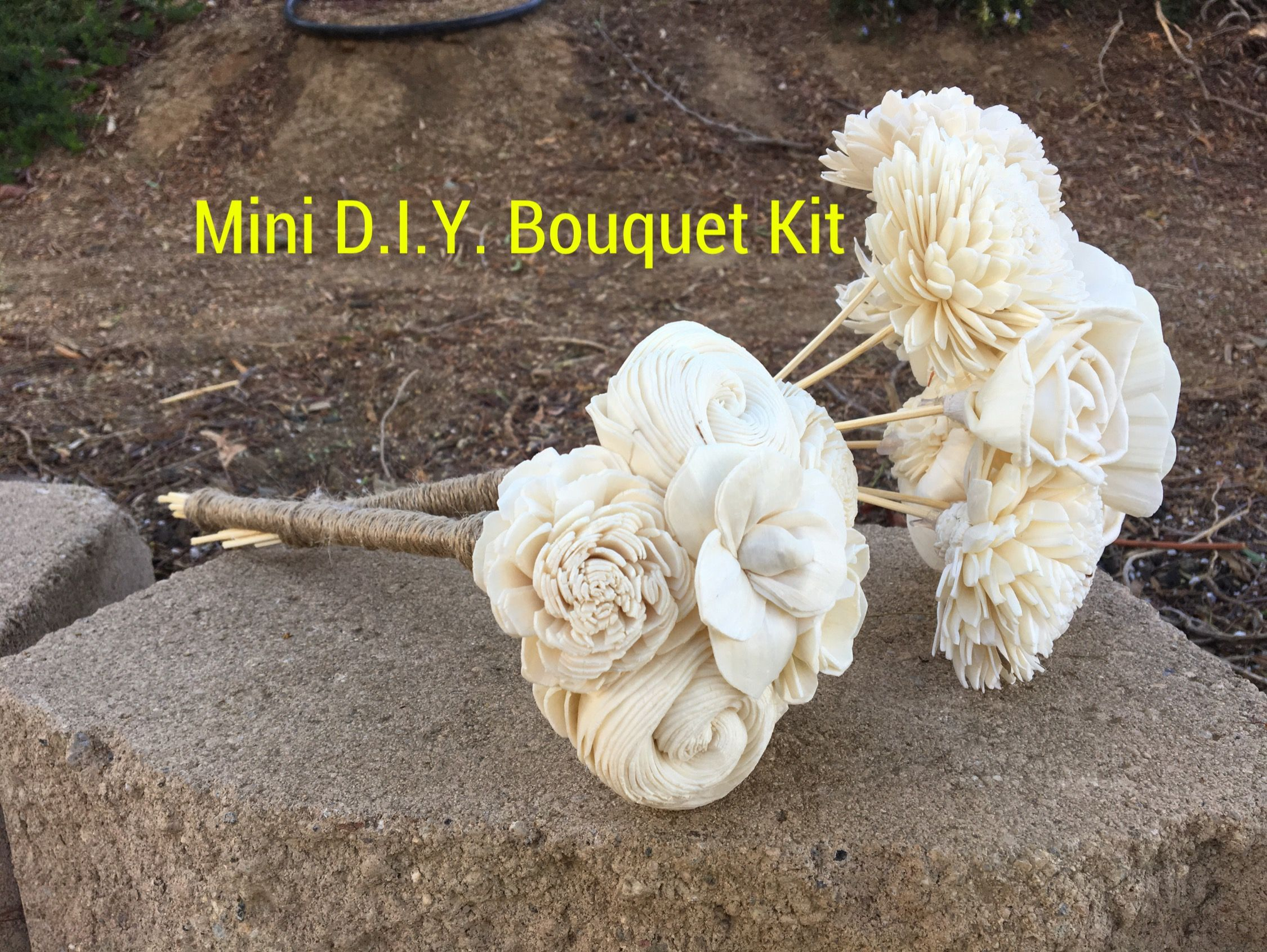 Mini bouquet diy kits made with wood flowers by luv2diy sola mini bouquet diy kits made with wood flowers by luv2diy izmirmasajfo